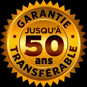 Garantie jusqu'à 50 ans