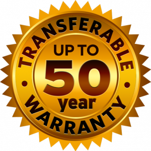Warranty up to 50-years